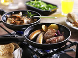 Gourmet halal menu met bakplaat_