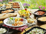 Gourmet halal menu met pannetjes_
