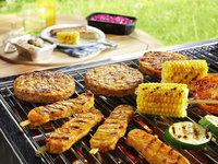 Barbecue vegetarisch menu