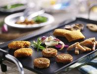 Gourmet vegetarisch menu pannetjes