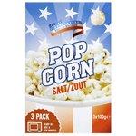 American Popcorn Zout 3x 100gr